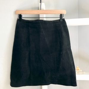 Vintage Black Suede Pencil Skirt
